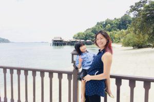 Jade & Marion on the pier of Pangkor Laut Resort