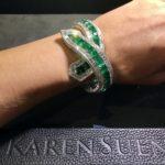 Faceted emeralds from Karen Suen