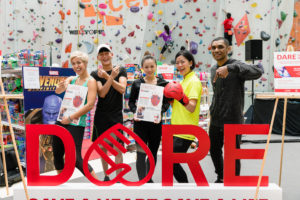 Dare To Save A Life roadshow at Kallang Wave Mall