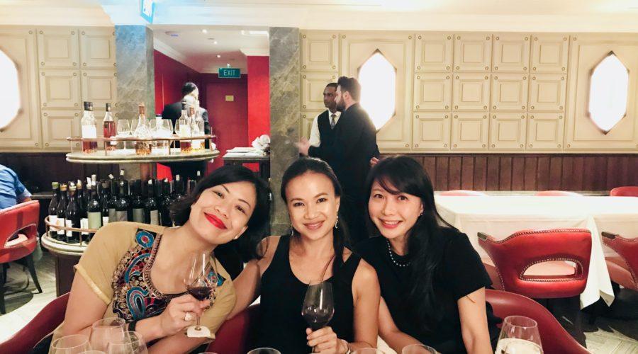 Dr Jade, Jen & Elyn at the Sine Qua Non dinner