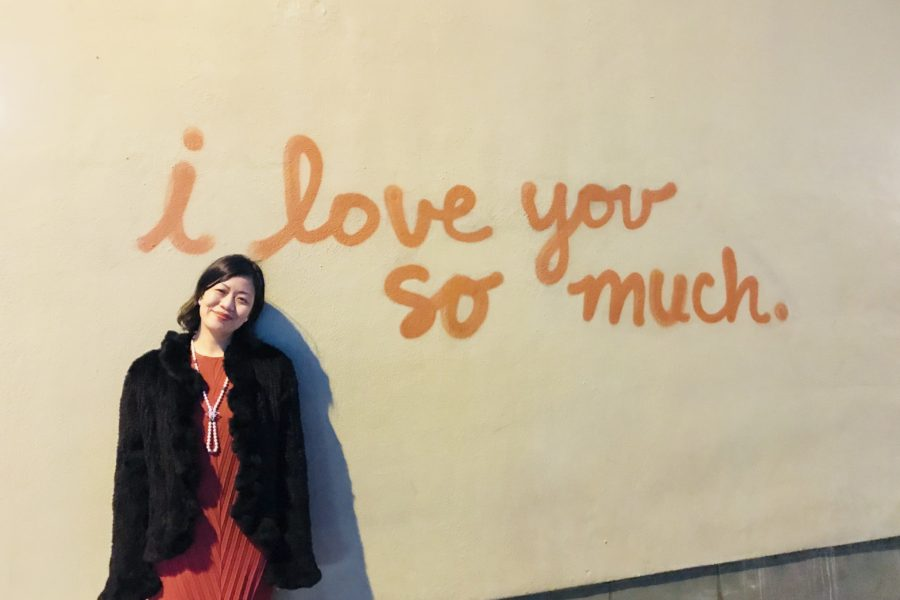 Austin wall on Congress Avenue: I love you so much