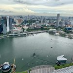 The view from the 57th floor of Marina Bay Sands