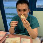 Eating bao