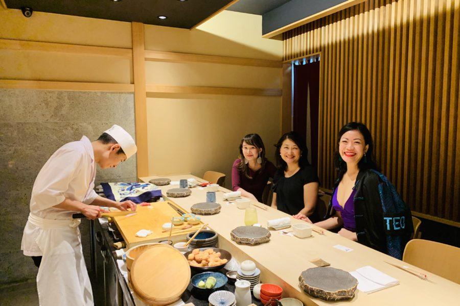 At the counter of Sushi Ayumu