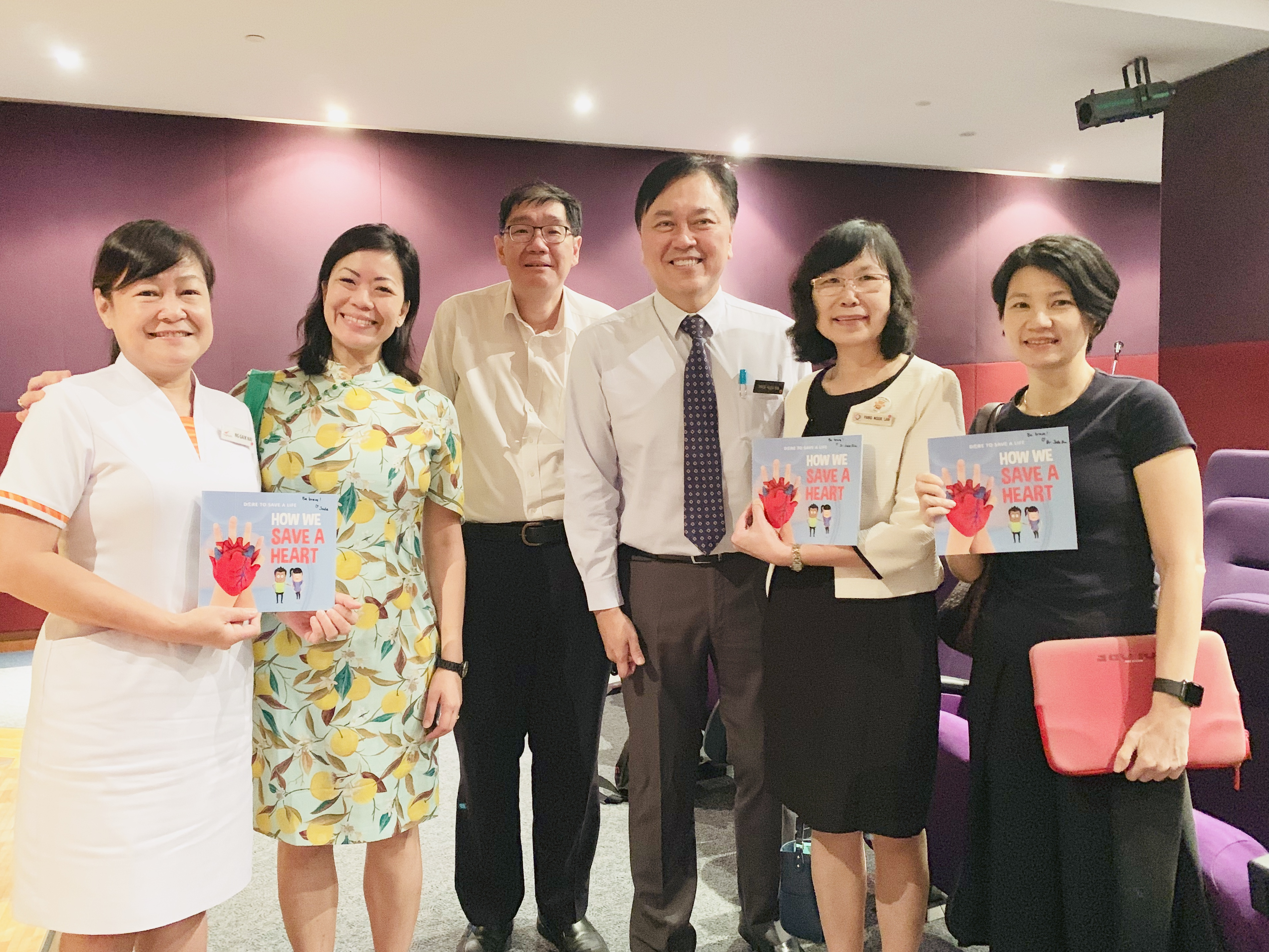 CEO & CMB have signed copies of our children's book for resuscitation