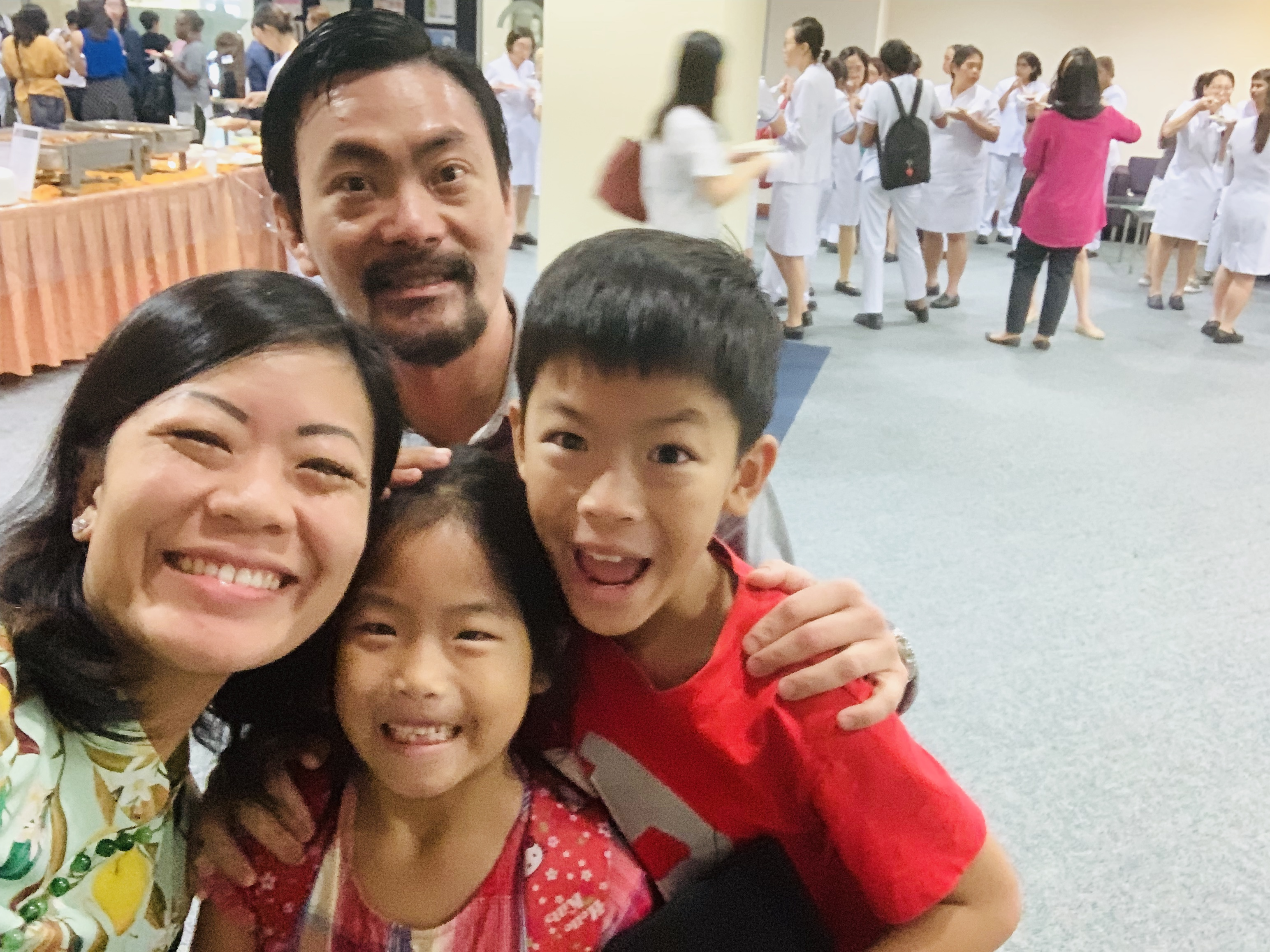Dr Lee with my kids while I spoke on pediatric resuscitation
