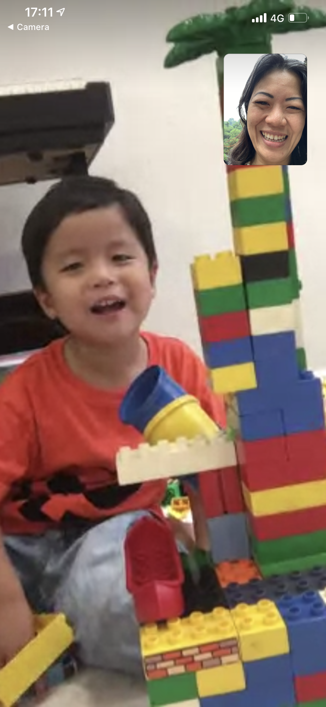 Video call from Hangzhou: M6 & his Lego