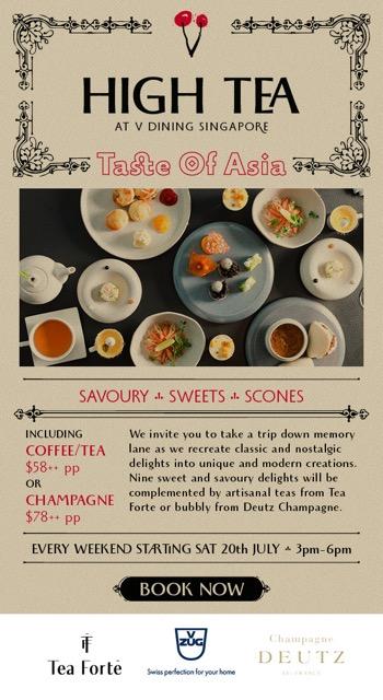 V Dining High Tea menu