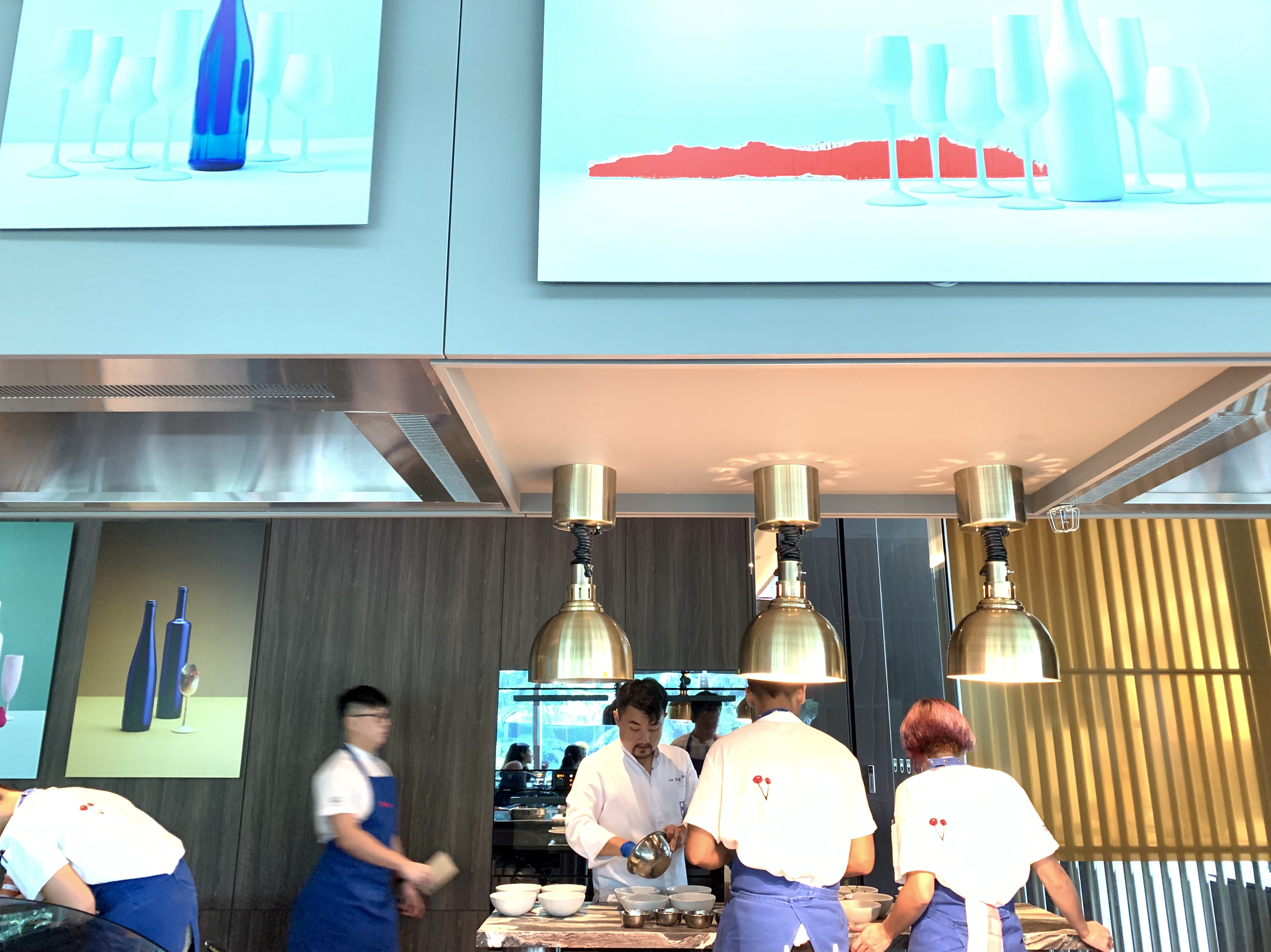 Chefs at work at V Dining