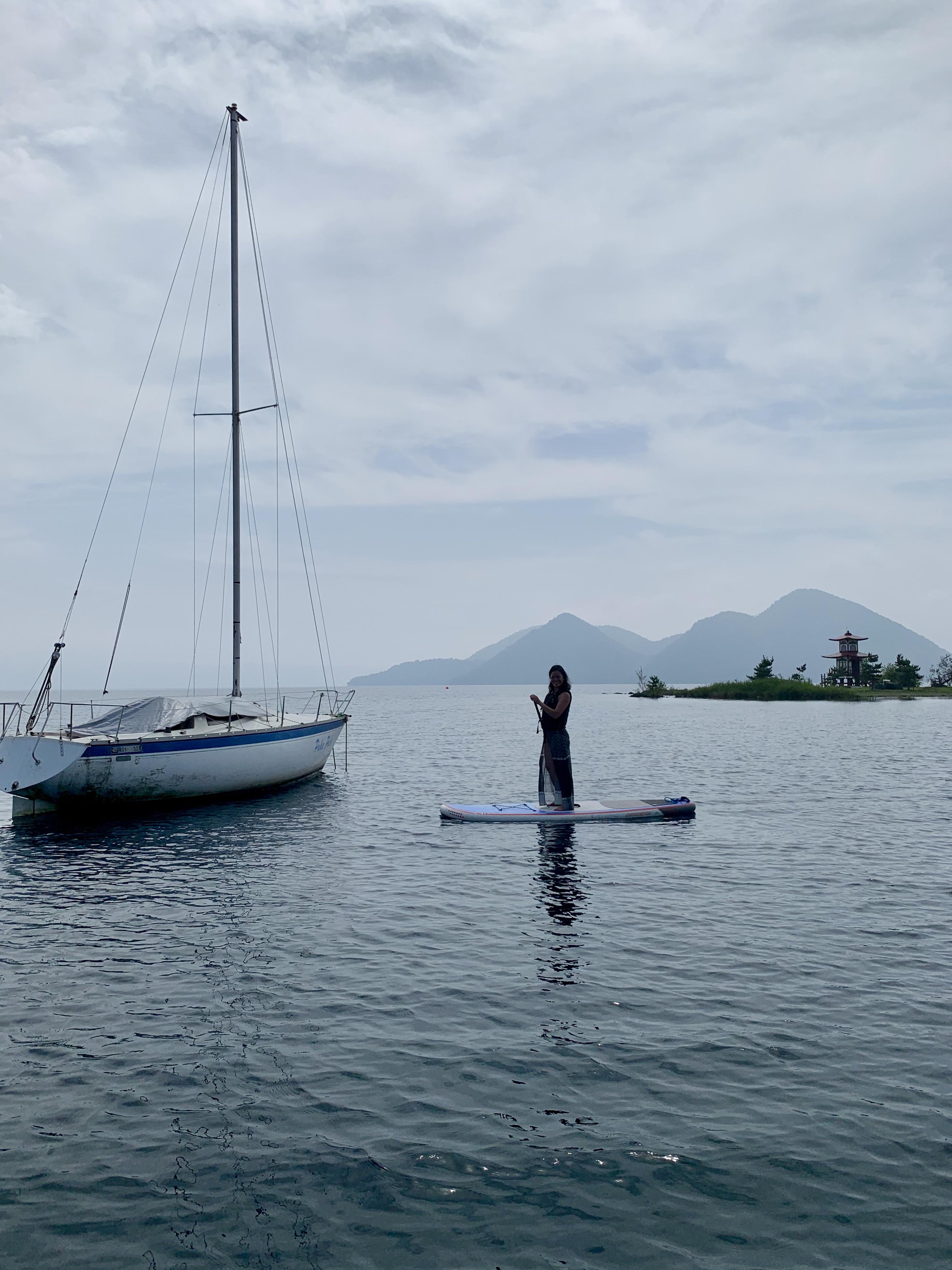 Stand Up Paddleboarding at Lake Toya