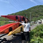 Preparing to kayak off the Shakotan Peninsula, Hokkaido