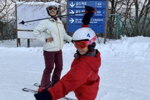 Skiing in YongPyong in PyeongChang