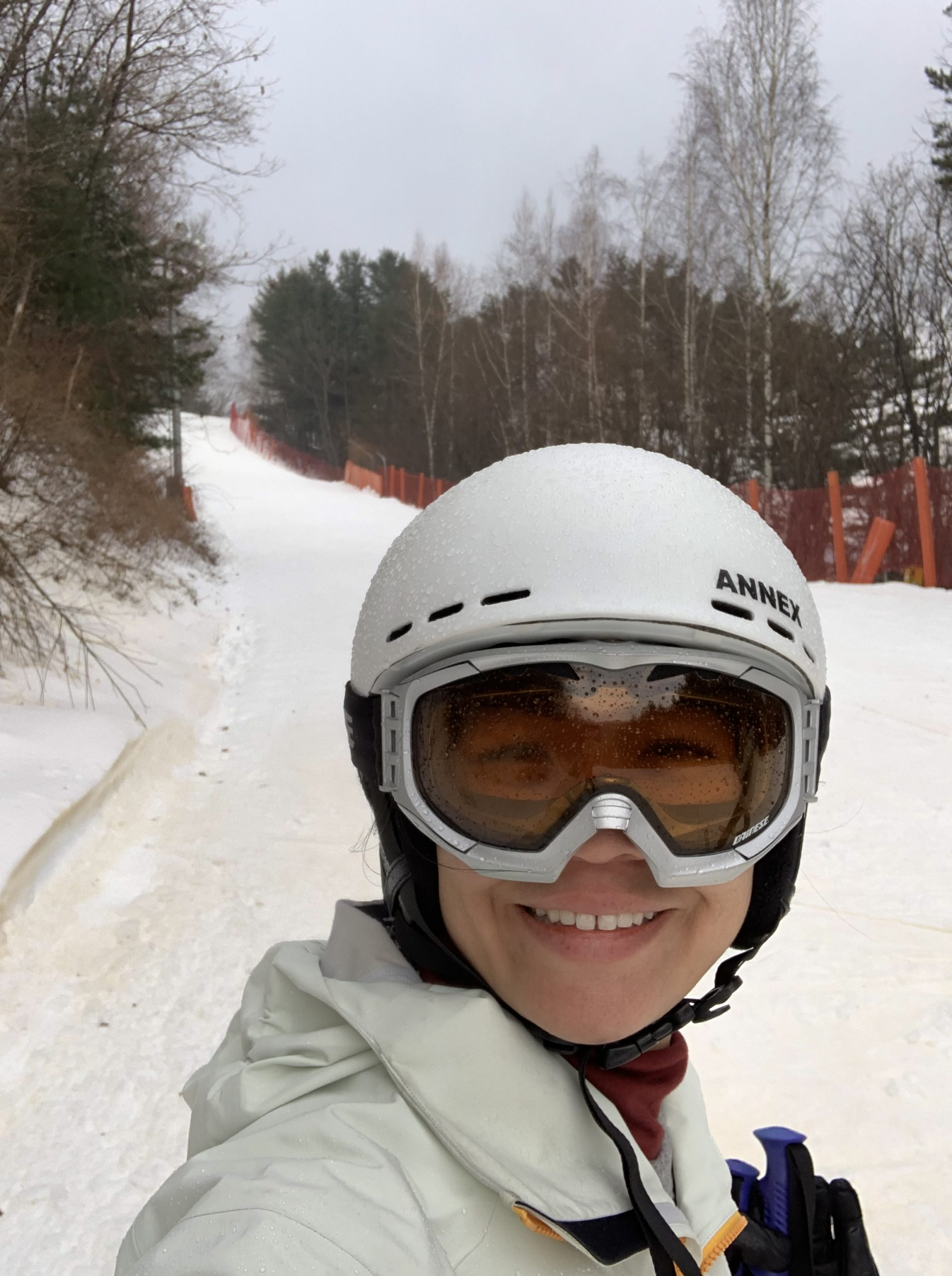 Selfie while skiing in PyeongChang