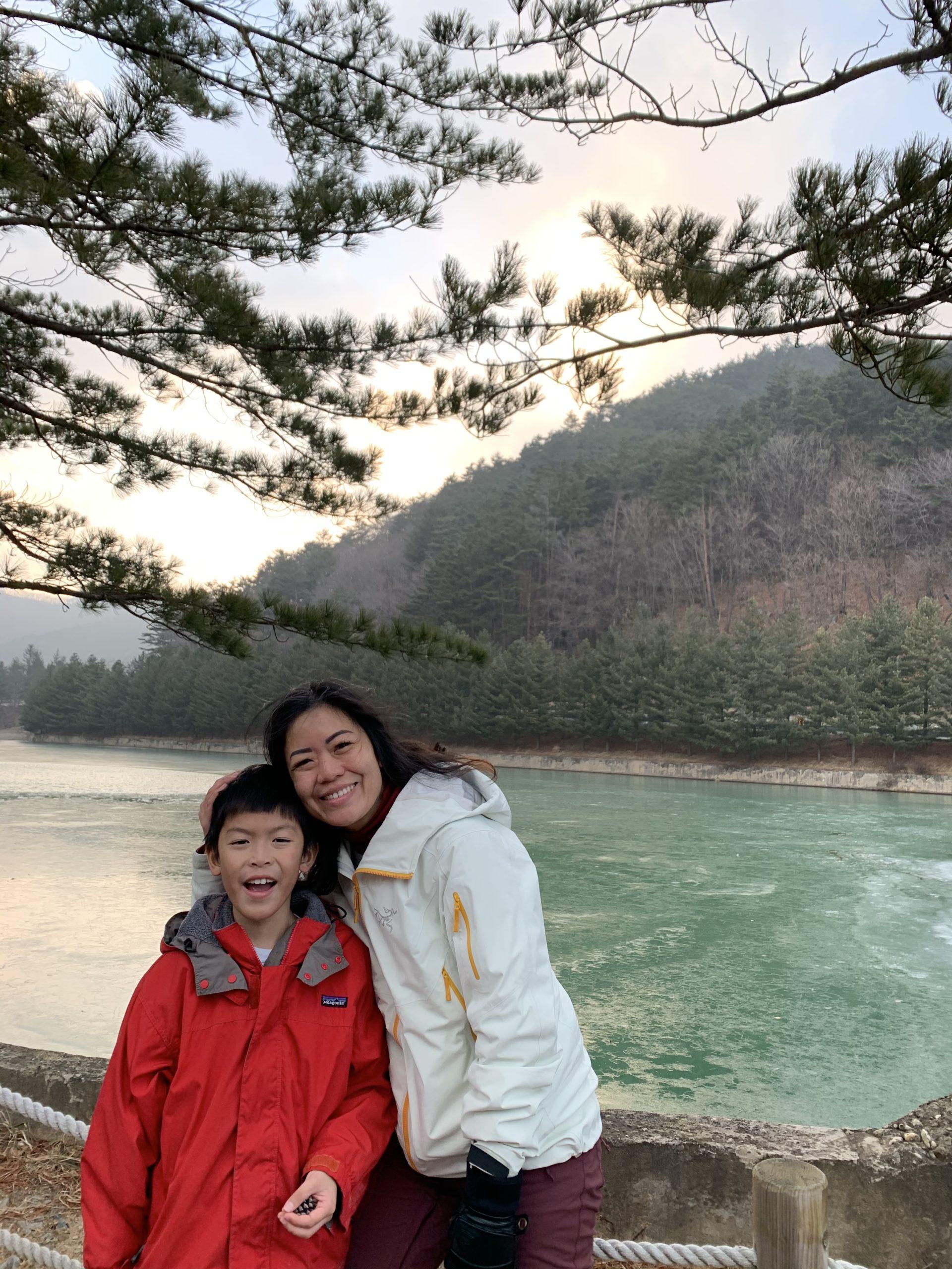 Frozen lake in PyeongChang