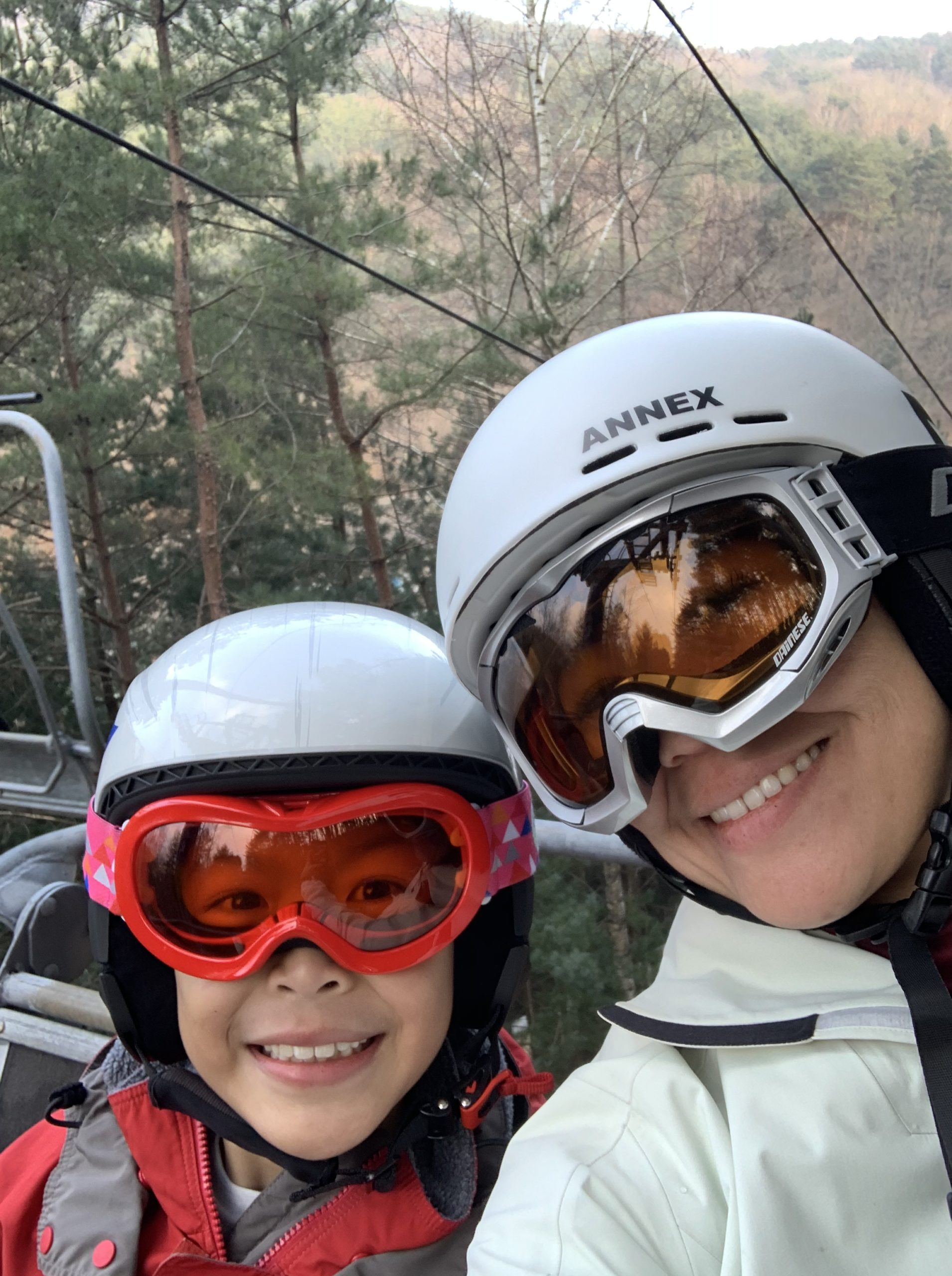 On the chair lift in PyeongChang