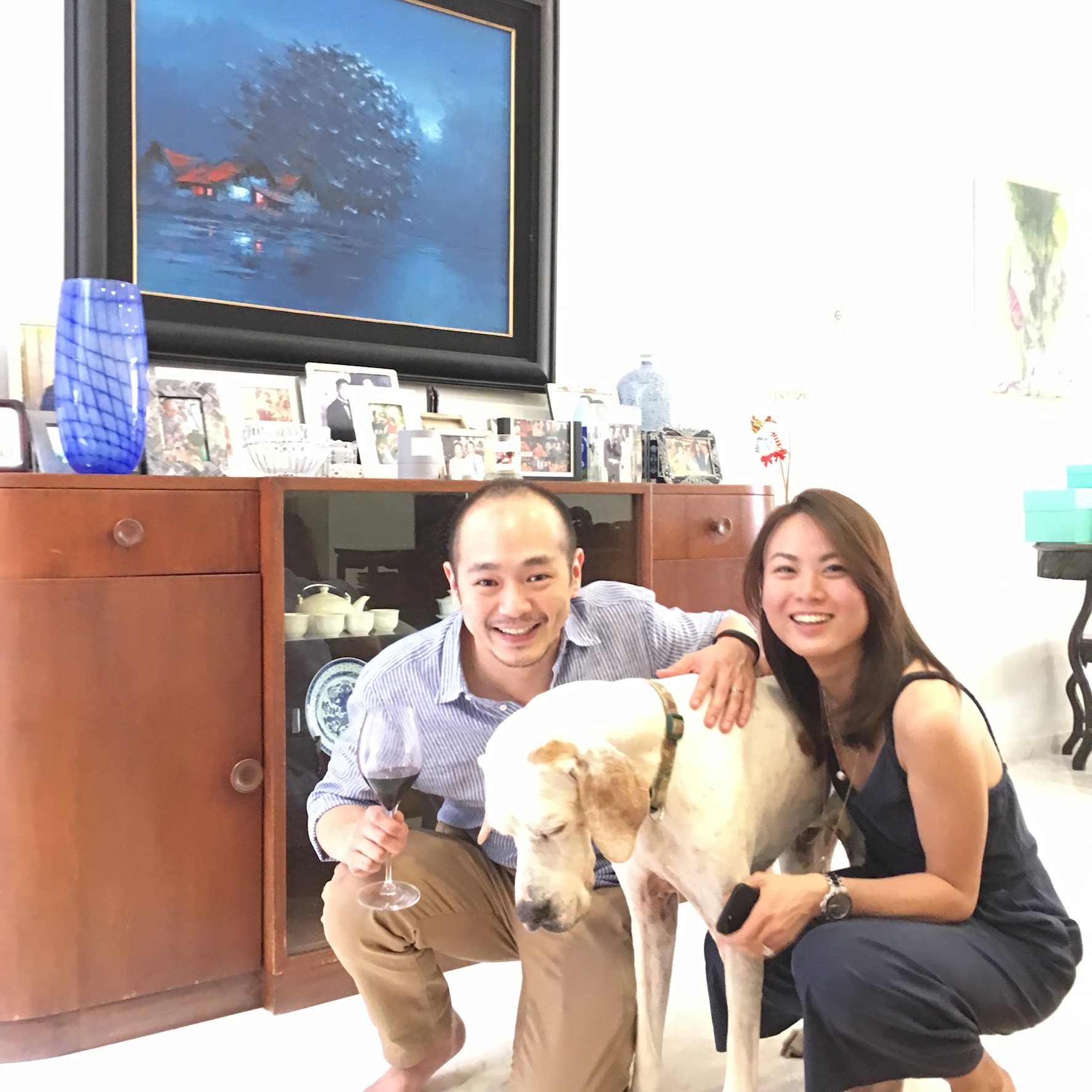 Alvin & Pauline with Dog Dylan