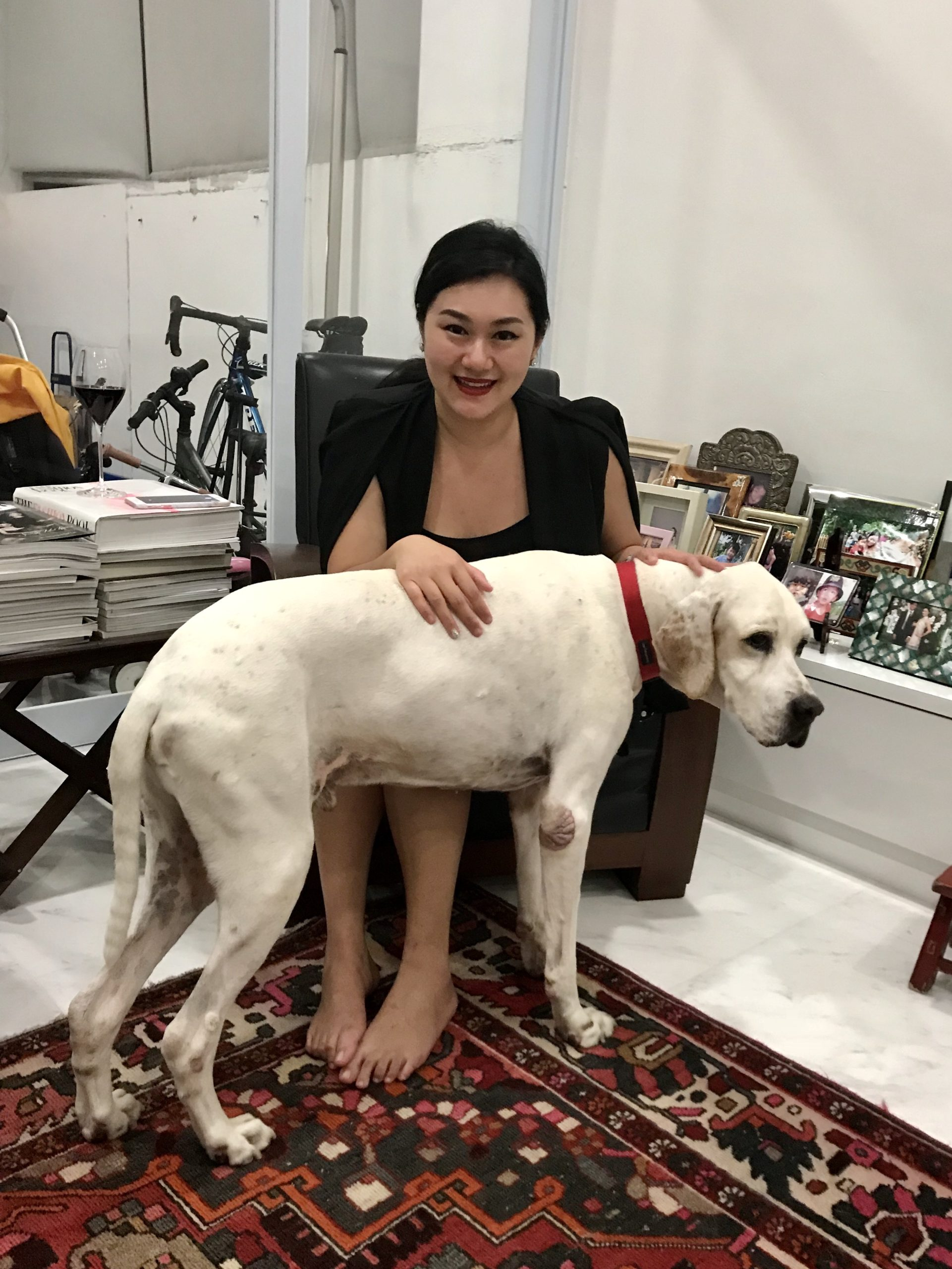 Lydia with Dog Dylan