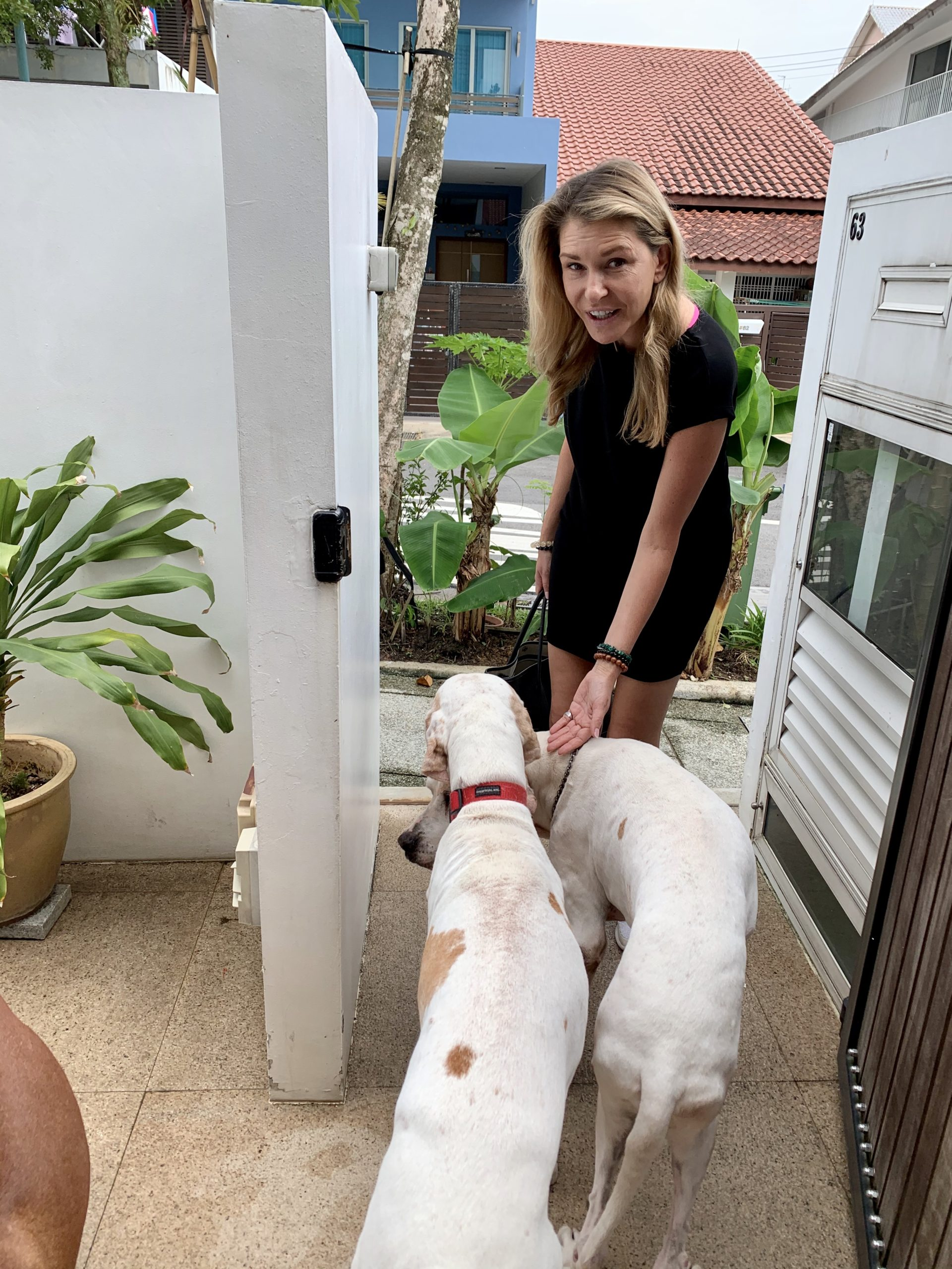 Nicolina Elrick with Dog Dylan