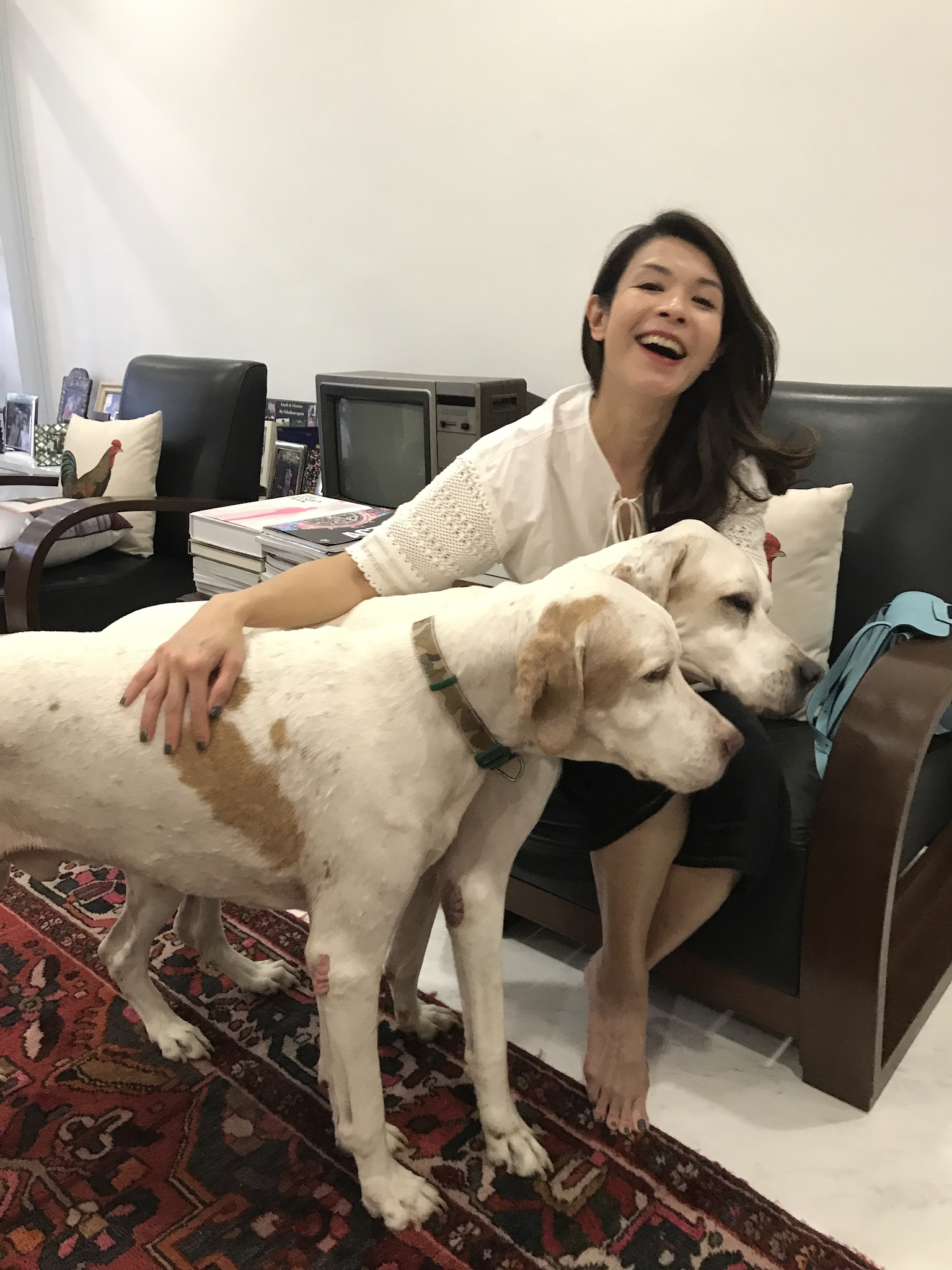Winnie with Dog Dylan