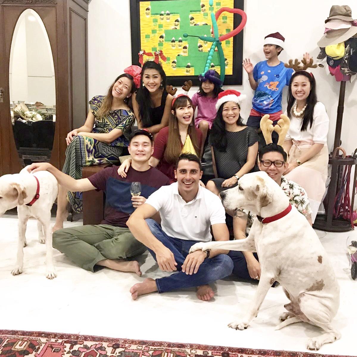 Christmas with Dog Dylan