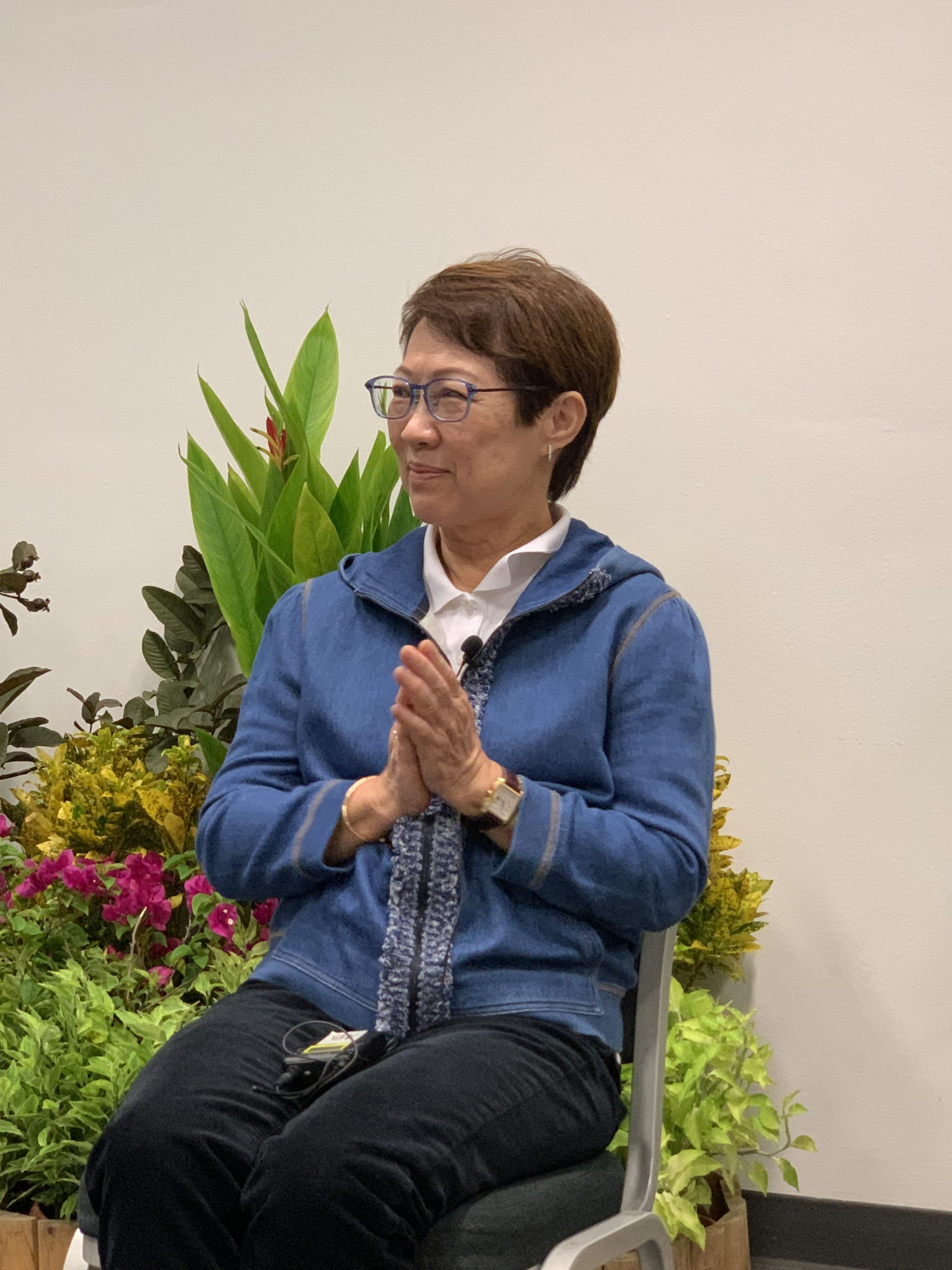 Mrs Wee Sin Tho, on the panel for the therapeutic forest discussion