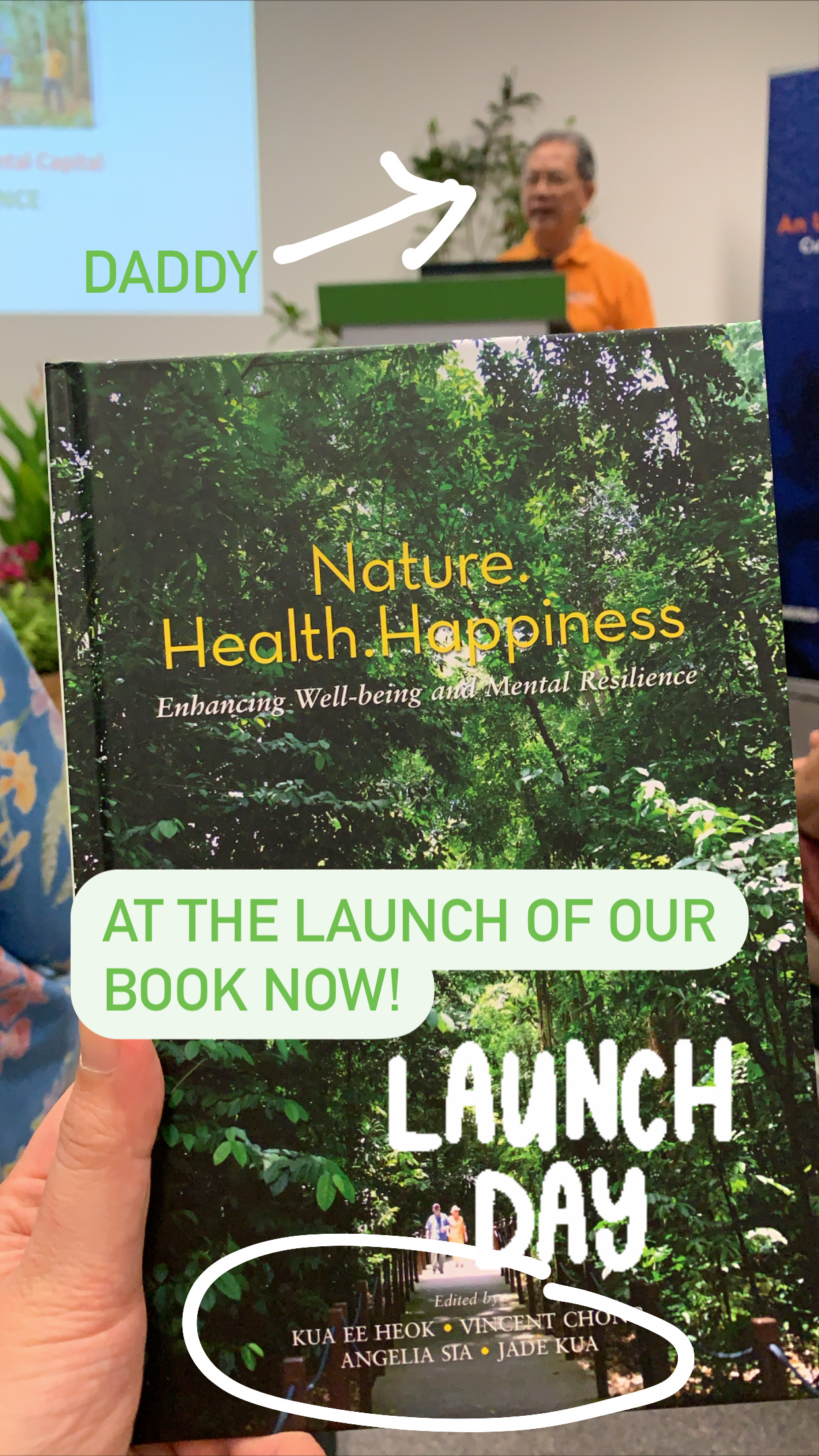 Book launch on therapeutic forest